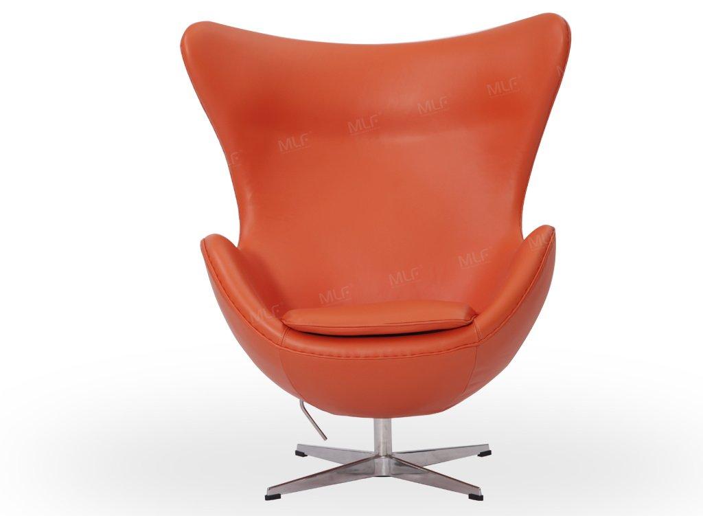 Pleasant Mlf Arne Jacobsen Egg Chair In Orange Italian Leather Famous Modern Design 5 Colors Creativecarmelina Interior Chair Design Creativecarmelinacom