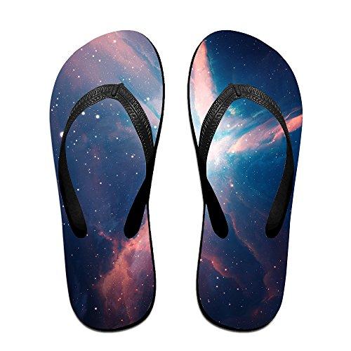 Girls Eden Shoes In Black (Denise Valdez Eden Nebula Space Galaxy Flip Flops Beach Sandal Slipper For Women And Men Top Quality Breathable Outdoor Water L)