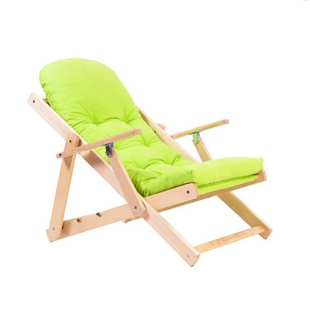 Amazon.com : GJM Shop Cloth Siesta Leisure Rocking Chair Solid Wood Folding Lounge Chair Simple Lazy Chair Lazy Sofa Recliners (Color : Green) : Garden & ...