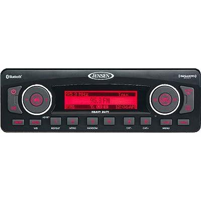 Jensen HD1BT AM/FM/WB/USB/SiriusXM Ready/Bluetooth Heavy Duty Radio, Full iPhone/iPod Controls, Black