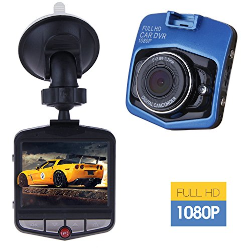 Dash Cam,SSONTONG Mini Car Dashboard Camera, 2.31″Screen 140 Degree Wide Angle Lens Full HD 1080P Vehicle On-dash Video Recorder with Night Vision, G-Sensor, Parking Monitoring, Loop Recording(blue)