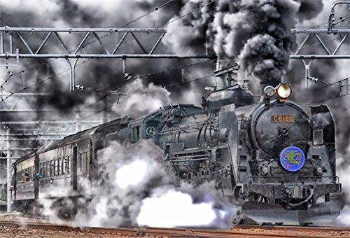 (AOFOTO 8x6ft Old Fashioned Steam Locomotive Backdrops Vintage Train Depot Photo Shoot Background Retro Engine Outdoor Railway Photography Studio Props Adult Boy Man Children Portrait Vinyl Wallpaper)