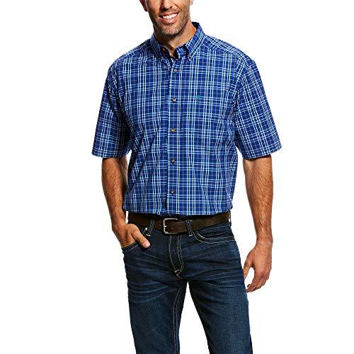 - ARIAT Men's Narciso Ss Perf Shirt Mazarine Blue Size XL