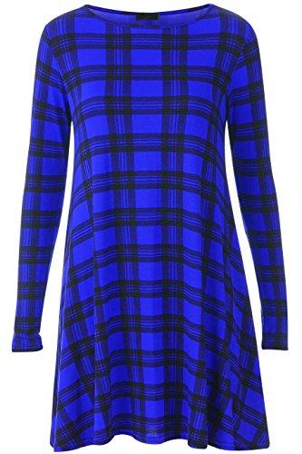 My Fashion Store Damen Swing-Kleid Kleid Gr. XX-Large, ROYAL TARTAN
