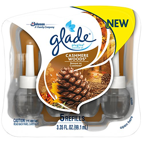 Glade Plugins Scented Oil Air Freshener Refill, Cashmere Woods, 5 Count by Glade (Image #4)
