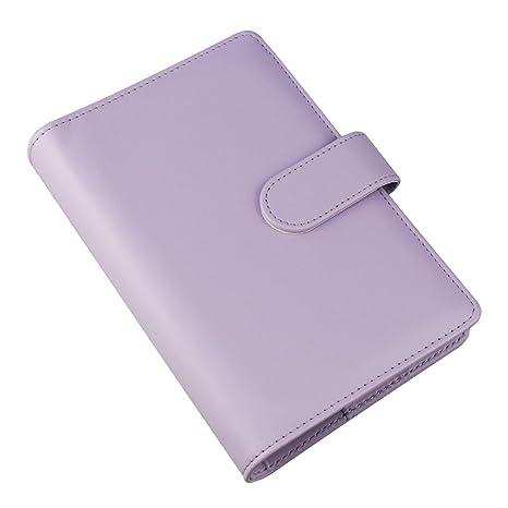 Amazon.com: Funda para cuaderno de piel sintética A6 ...