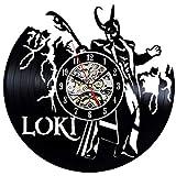 Cheap Loki Avengers Vinyl Record Clock Home Design Room Art Decor Handmade Vintage