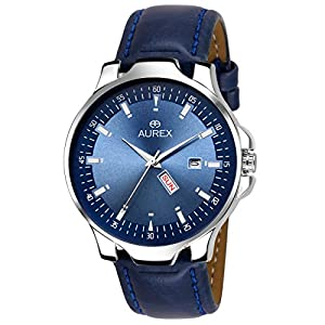 Aurex Analog Blue Dial Day and Date Functioning Men's and Boy's Watch (AX-GR130-BLBL)