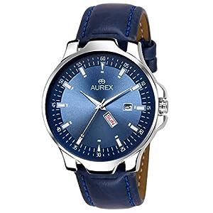 AUREX Analogue Men's Watch (Blue Dial Blue Colored Strap)