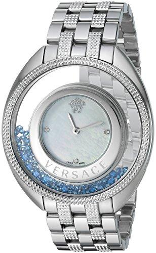 Versace Women's VQO050015 Destiny Precious Analog Display Swiss Quartz Silver Watch