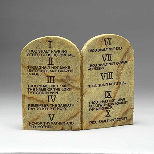 Ten Commandments Plaque (Ten Commandments Resin Stone 11 x 9 Wall or Tabletop Plaque)
