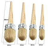 4 PCS Chalk Paint Wax Brush Set – Natural Bristle