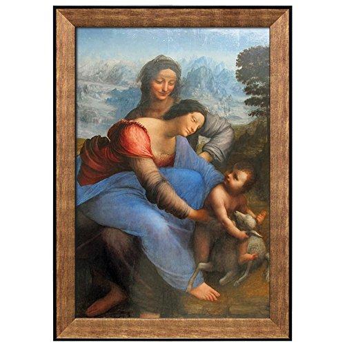 The Virgin and Child with St Anne by Leonardo Da Vinci Framed Art