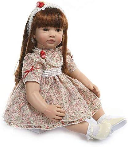 Reborn-poppen, siliconen Reborn baby-babyspeelgoed Vinylsimulatie Prinses Verjaardagscadeau Huisspeelgoed 60 cm Verzorgende poppen