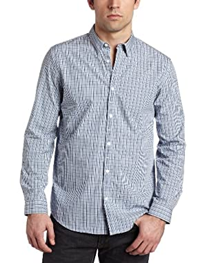 Calvin Klein Men's Longsleeve Mini Check Dobby Shirt