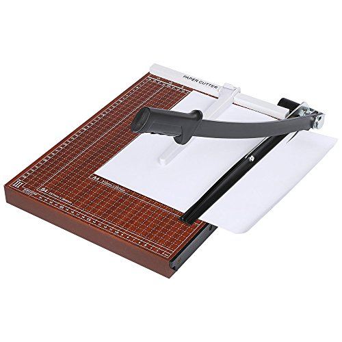 (US Stock)Professional Home Office Wooden A3-B7 12 Sheets Paper Cutter Scrap Trimmer Machine,Paper Cutter Guillotine for Coupon, Craft Paper, Label and - Stock Coupon