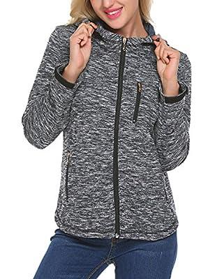 Unibelle Women Full Zip-Up Hooded Lightweight Jacket With Drawstrings
