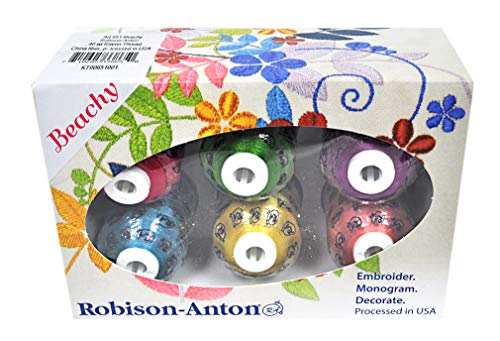 Robison-Anton Rayon Mini King 6 Spool Gift Pack - Beachy