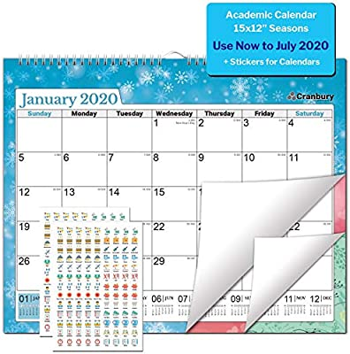 Amazon.com: Calendario de pared grande de 5.9 x 4.7 in ...