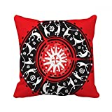 DIYthinker Celebrate Mexican Silhouette Mexico Totems Square Throw Pillow Insert Cushion Cover Home Sofa Decor Gift