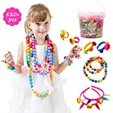 520 Pcs Pop Snap Beads Art Craft Sets Jewelry Making Kit for Girls DIY Necklaces, Bracelets, Rings