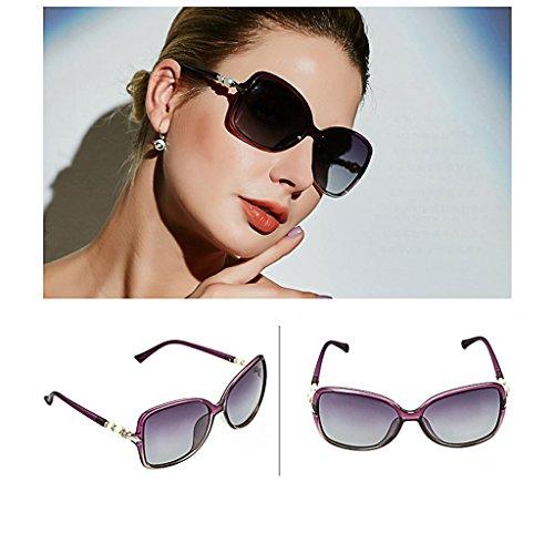 des Soleil Lunettes Soleil de Pearl TangMengYun Polarisées Color Purple de de Big Lunettes Lunettes conduisant Purple pour Elegant Frame Soleil Femmes EwCOCSqxWf