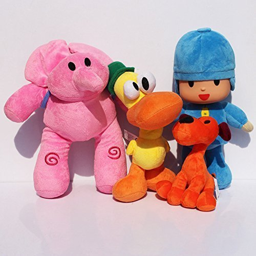 Pocoyo Plush 14cm-30cm Pocoyo Loula Elly Pato 4pcs Set Doll Stuffed Animals Soft Figure Anime Collection Toy by Latim