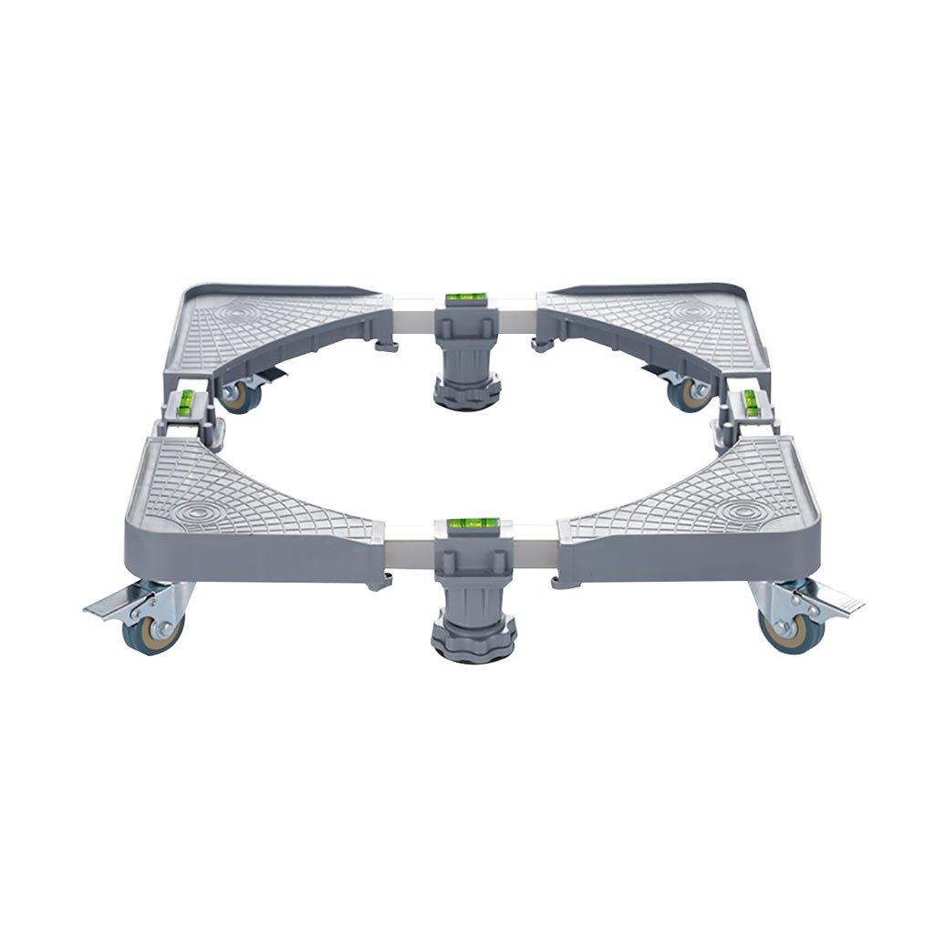 NUBAO Grande base di elettrodomestici Base regolabile Piattaforma multifunzionale lavatrice/dryer/frigorifero Rotazione di 360 ° 8 mobile Fixed four-leg regolabile Base chiudibile a chiave grigio