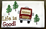 Custom Dish Towel, Camping Gift, RV Decor, Camping Dish Towel, Glamping, RV Accessories, Flour Sack Towel, RV Gift, Camper Decor, Top Quality, Choice of RV Color, (Option to add name in window)