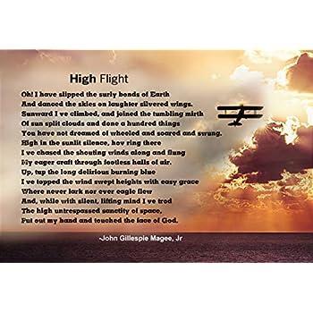 Amazoncom Wesellphotos High Flight Poem Poster Print