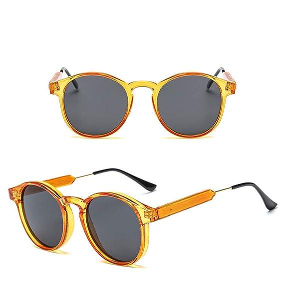 Wang-RX Gafas de sol de las mujeres redondas de metal pie de ...