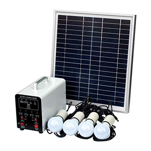 15 W off-Grid sistema de Solar con 4 LED luces, Panel Solar, batería y Cables – completo de accesorios de iluminación…