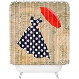 "Deny Designs Irena Orlov Red Umbrella Shower Curtain, 69"" x 72"""