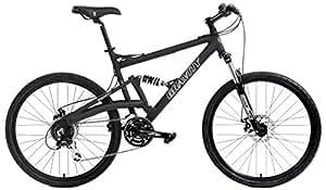 2018 FSX 2.0 Dual Full Suspension Mountain Bike Gravity Shimano Equipped Suntour (Matt Black with Black Wheels, 17inch)