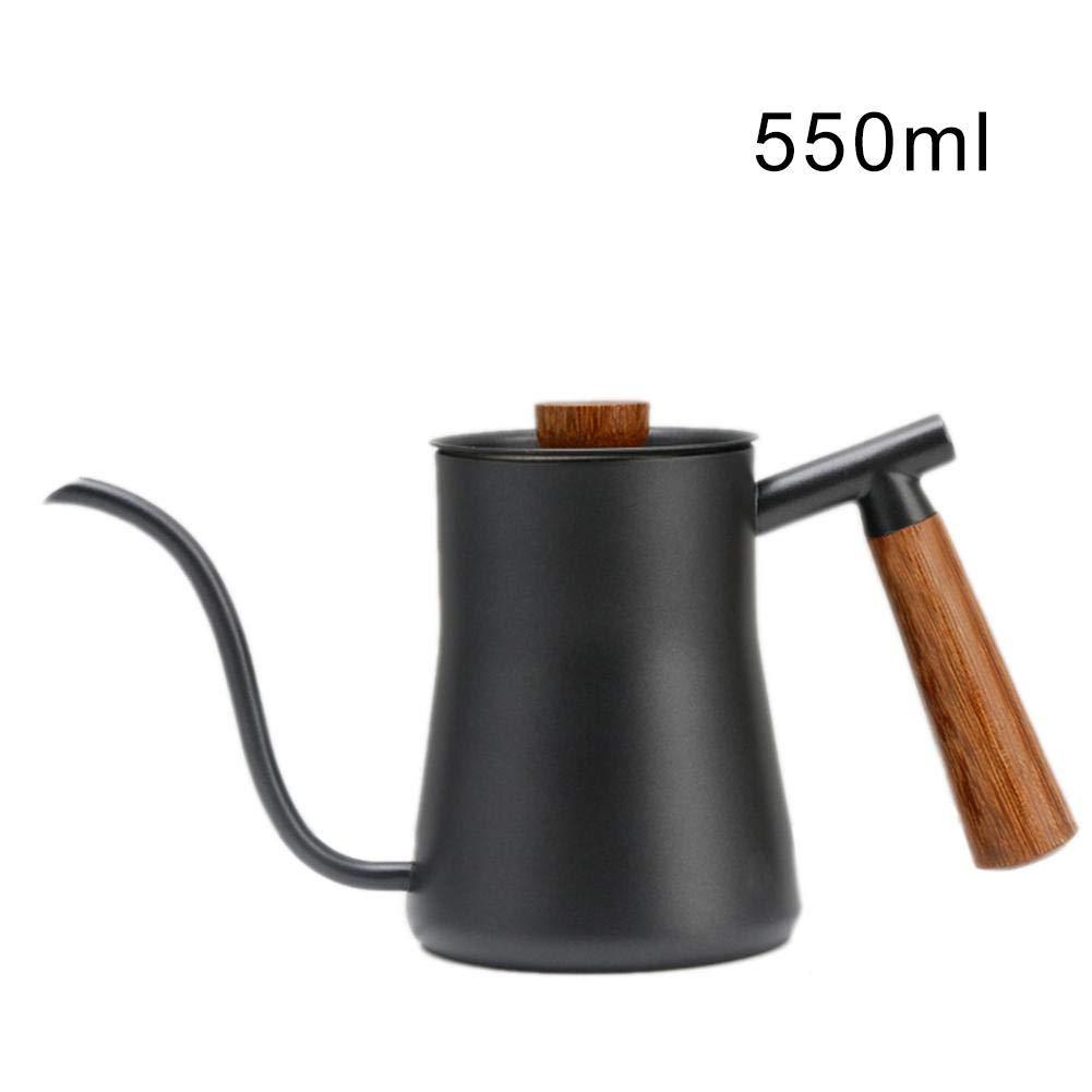 LEO565TOM Kaffeekanne Edelstahl Langer Mund Gieß kanne Haushaltskaffeetopf, Kessel, Teekanne Verbrü hschutz Feiner Mund