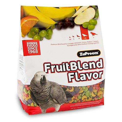 ZuPreem FruitBlend Parrot & Conure Bird Food 35lb