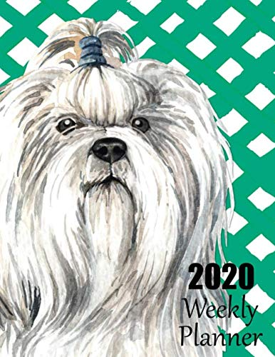 2020-Weekly-Planner-Adorable-Shih-Tzu-Dated-Planner-and-Organizer-for-Busy-Dog-Lovers-with-Monday-Start-Date-Two-Page-Weekly-and-Monthly-Layouts-for–December-and-Room-for-Notes-on-Every-Page