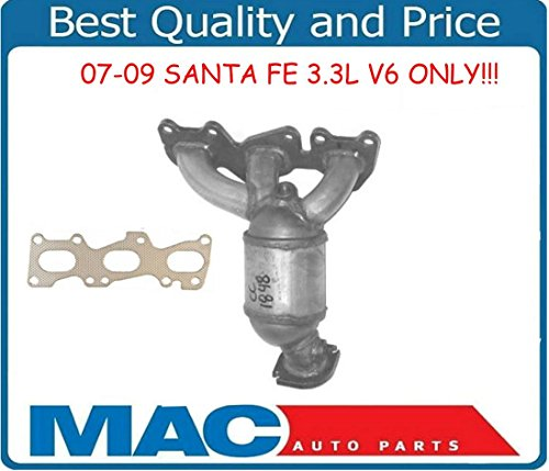 mac-auto-parts-133034-sante-fe-33l-rear-firewall-manifold-catalytic-converter-w-gasket-cc1848xl