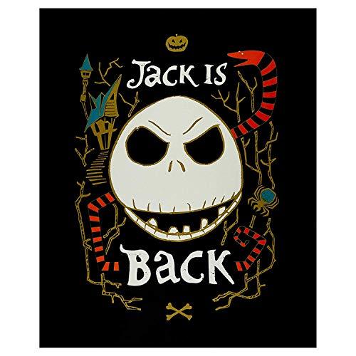Nightmare Before Christmas Fabric Panel Jack is Back, Glow in The Dark, Licensed by Disney