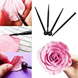 Slendima 4Pcs/Set Carve Pens Flower Modelling Cake Molds Bakeware Kitchen Decorating Tools for Baking