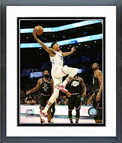 "Giannis Antetokounmpo Milwaukee Bucks 2019 NBA All Star Game Action Photo (Size: 12.5"" x 15.5"" Framed)"