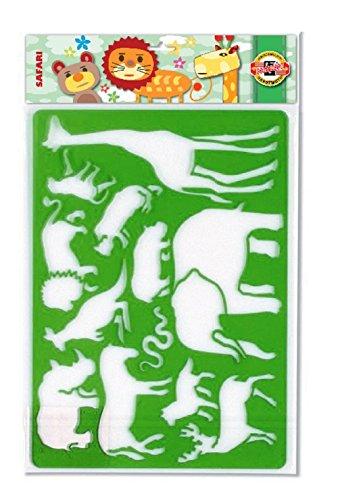 KOH-I-NOOR SAFARI Template (Safari Stencils Animal)