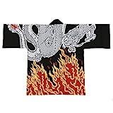 Festival Hanten Happi Coat Japanese pattern Dragon and Fire(6485)