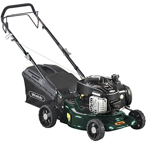 Webb R16SP Self Propelled Petrol Rotary Lawnmower 420mm Cut Width with Steel Deck & Briggs & Stratton 4 Stroke Engine by Webb