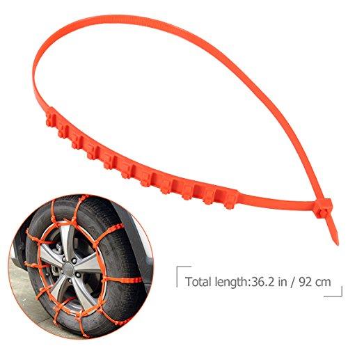 Emergency Tire Chains Set WINOMO 5Pcs Tyre Chains Car Anti-skid Chain for Sedan SUV Light Pickup Truck by WINOMO (Image #6)