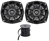 titanium oil dome - Kicker 10PS52504 5.25 Harley Davidson Motorcycle Speakers+Marine Speaker Wire