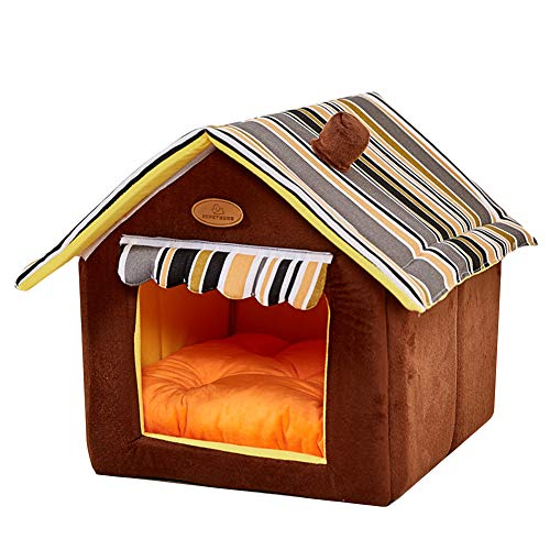 (Dog House Soft Indoor Small Medium Large Dog Houses, Pets Sponge Material Portable and Great for Transportation and Short outings)