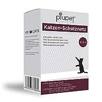 PiuPet® Katzennetz 8x3m transparent - Balkonnetz ideal für Deine Katze - Katzennetz für Balkon inkl. 20 Kabelbinder & 25m Befestigungsseil