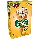 ice cream waffle cones - Keebler Ice Cream Cones, Waffle Cones, 5oz (12 Count)