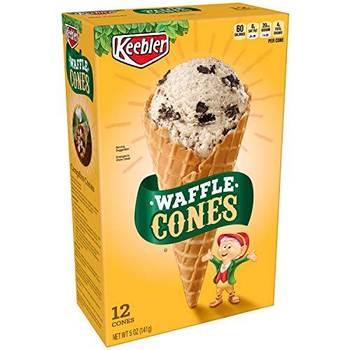 Keebler Ice Cream Cones, Waffle Cones, 5oz (12 Count)